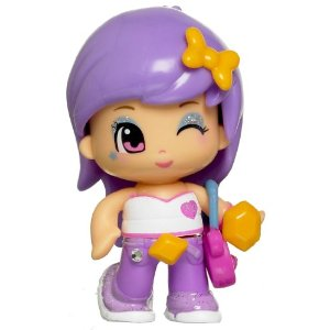 Pinypon doll lilac straight hair